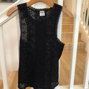 Free People Intimately black lace tank